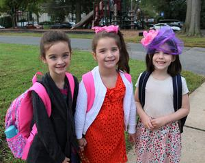 Jefferson students dress in finery as part of a themed dress day during Week of Respect.