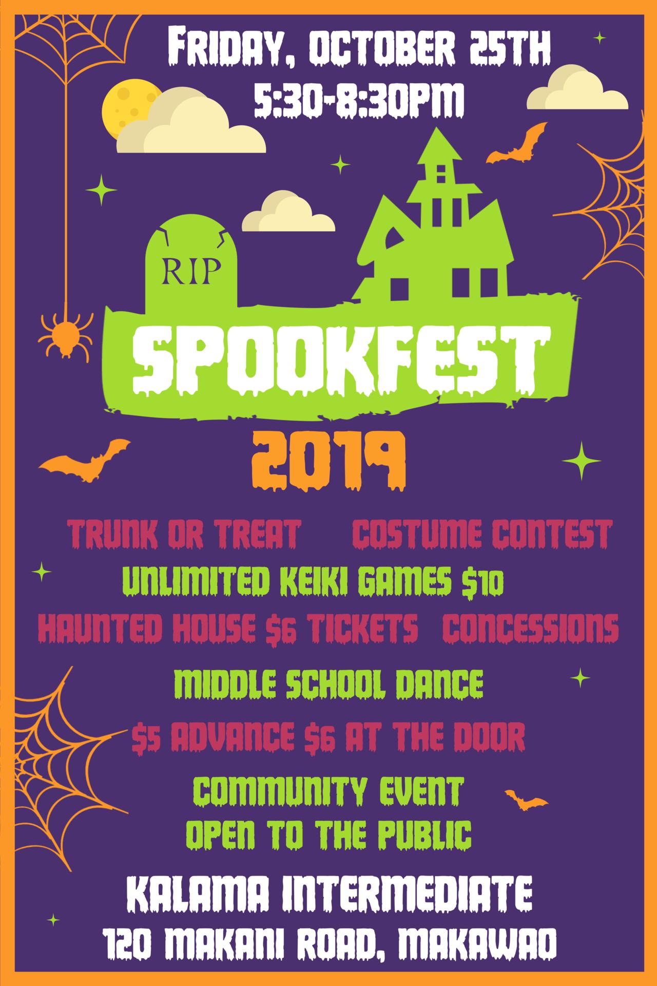 spookfest 2019 poster