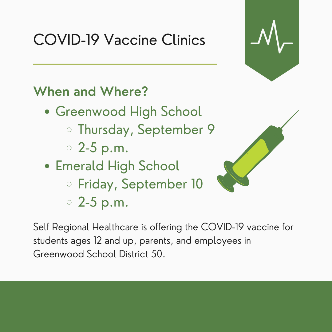 COVID-19 Clinics at GHS and EHS