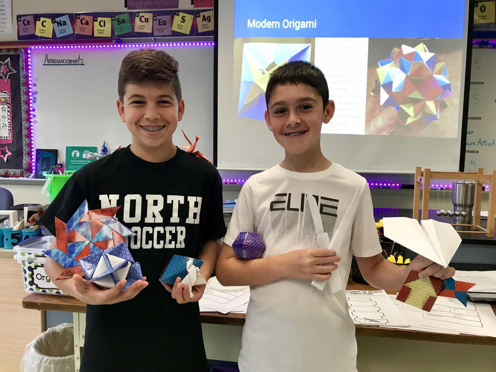 Origami Genius Hour Presentation