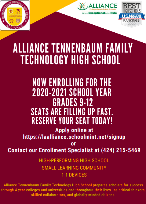 Now Enrolling for the 2020-2021 School Year!   ¡Inscríbase ahora para el año escolar 2020-2021! Thumbnail Image