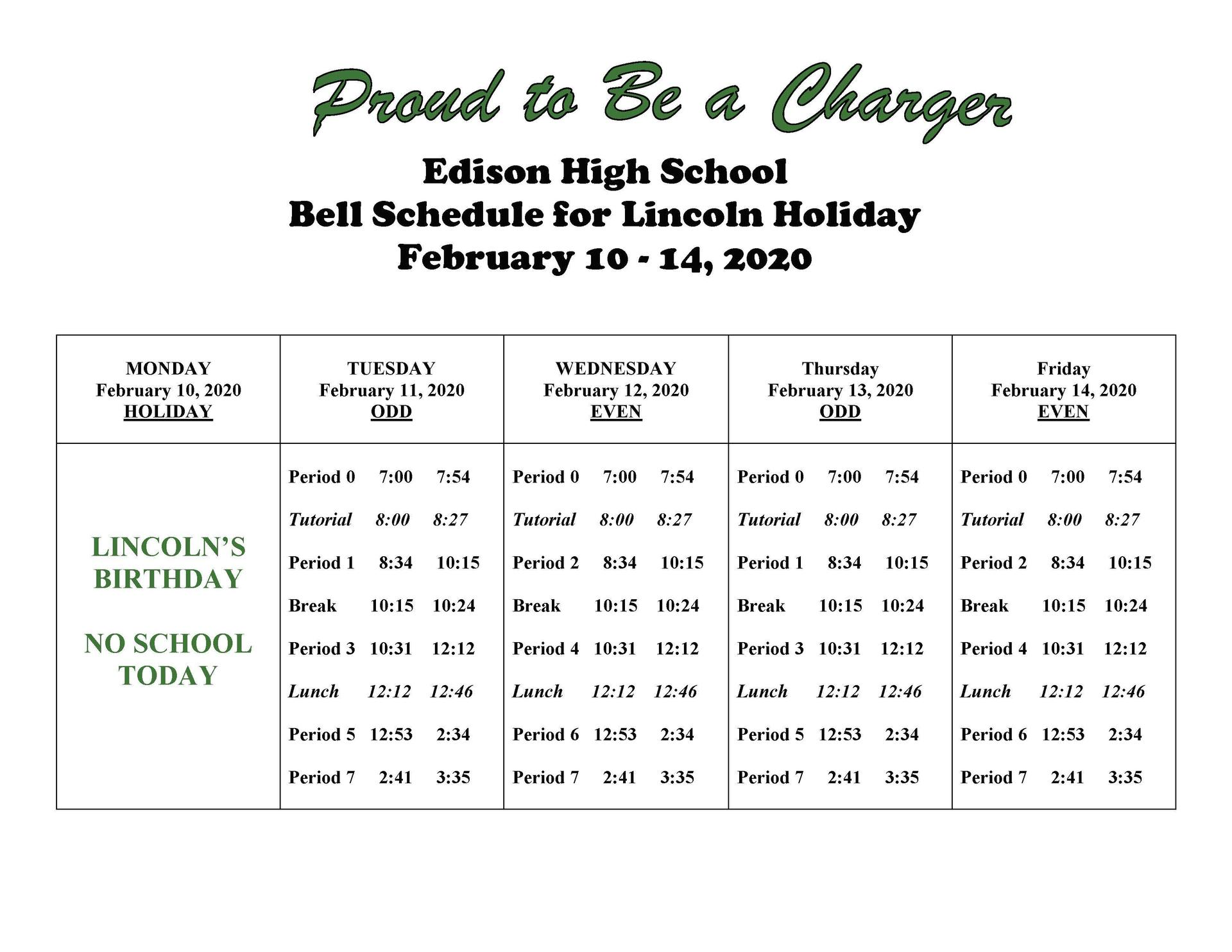 Csula Final Exam Schedule Fall 2020.Bell Schedules 2019 2020 Bell Schedules Edison High School