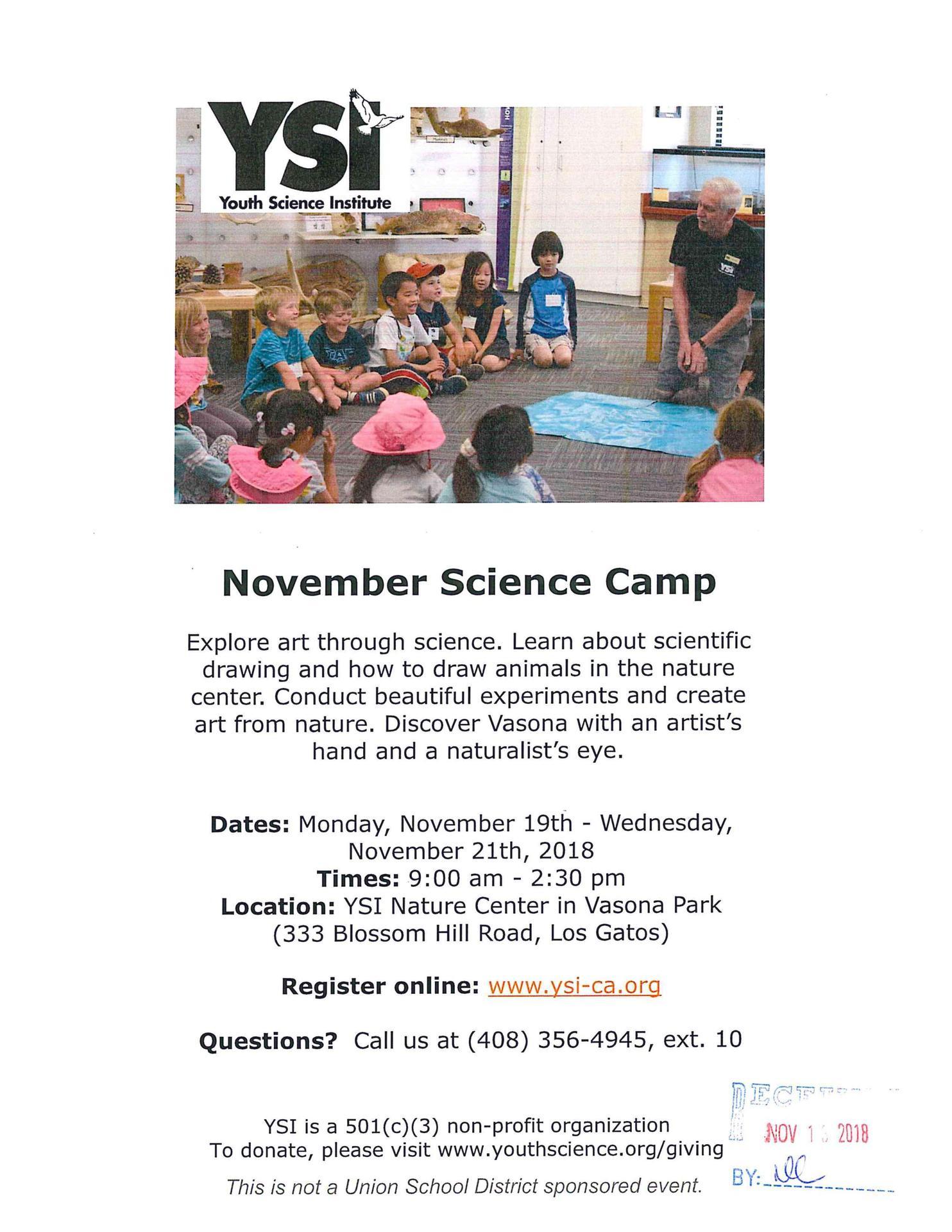YSI November Camp