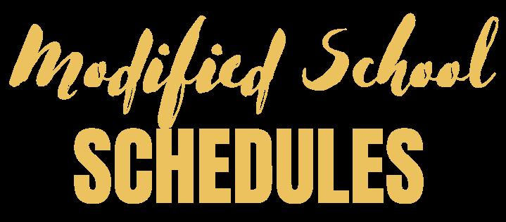Modified School Schedules