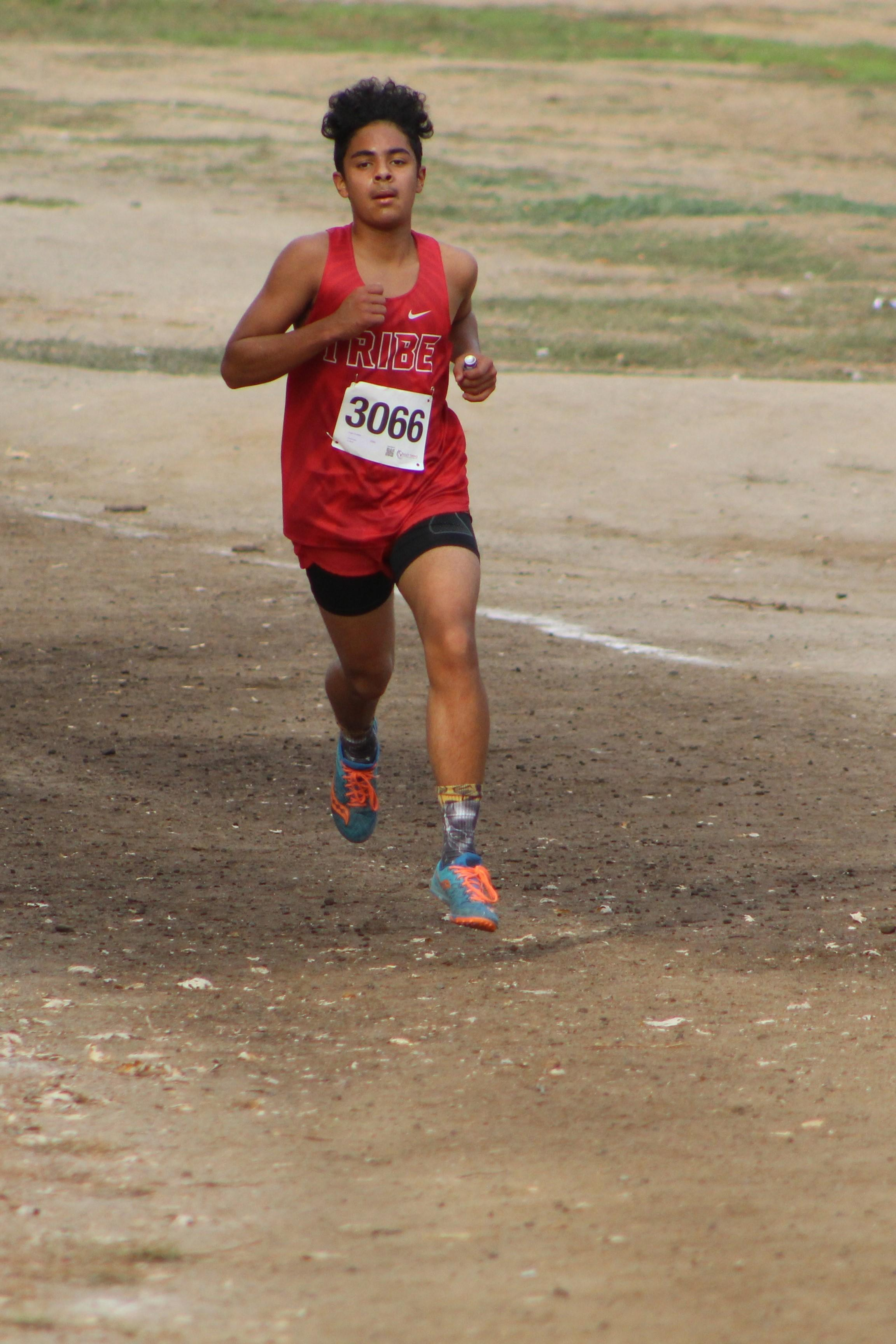 Angel Gonzales running