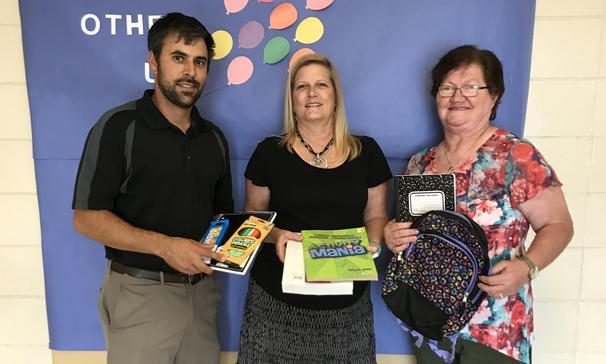 School Supplies donated by the VFW