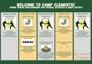 Camp Clemente activities