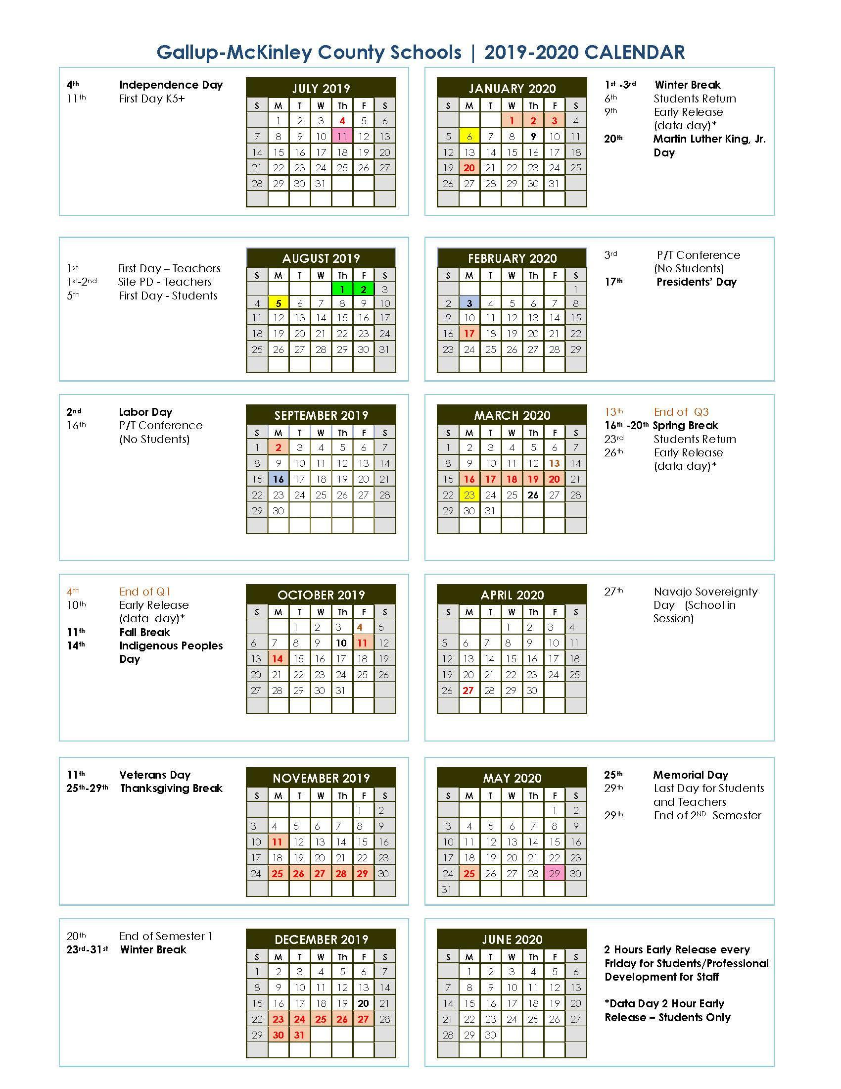 1st Day Of Spring 2020.District School Year Calendar Graduation Dates Parents