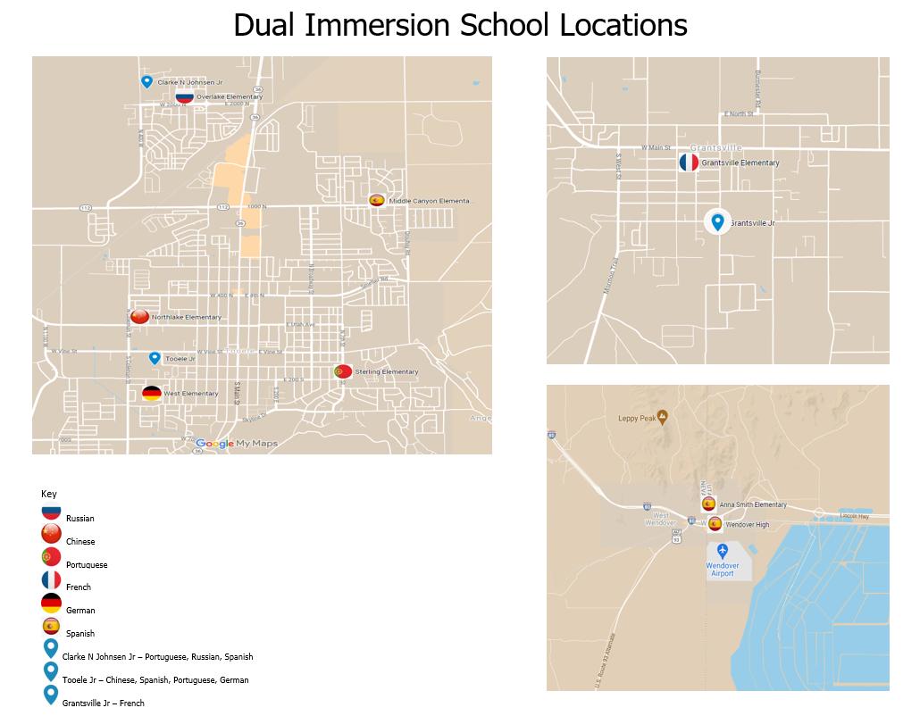 Locations of DLI Schools