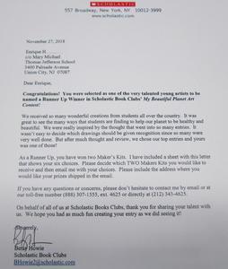 congratulatory letter from scholastic