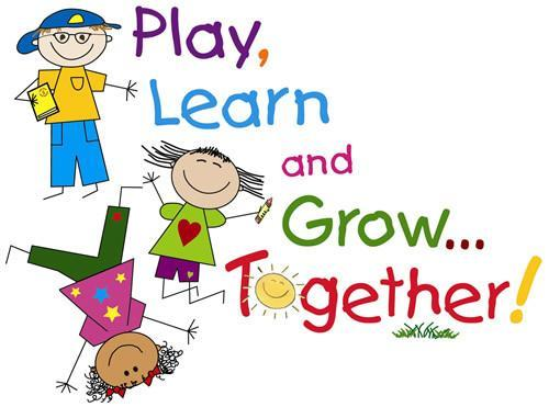 Sign that says play, learn, and work together