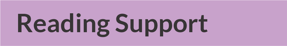 reading support