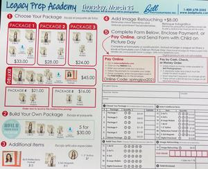 Legacy Preparatory Academy Best charter school in Davis County Bell Order Form 2