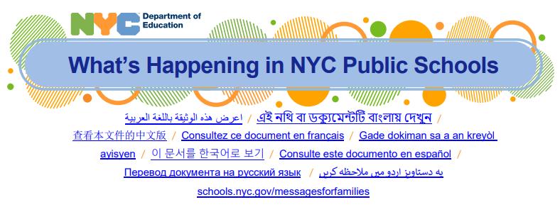 What's Happening in NYC Public Schools 09/13-09/17