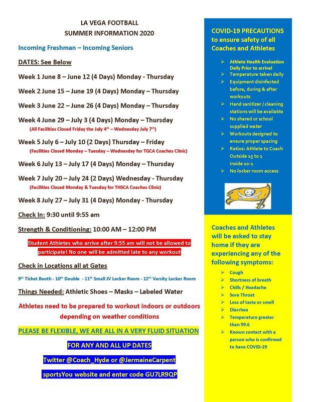 La Vega Football Summer - Information Thumbnail Image