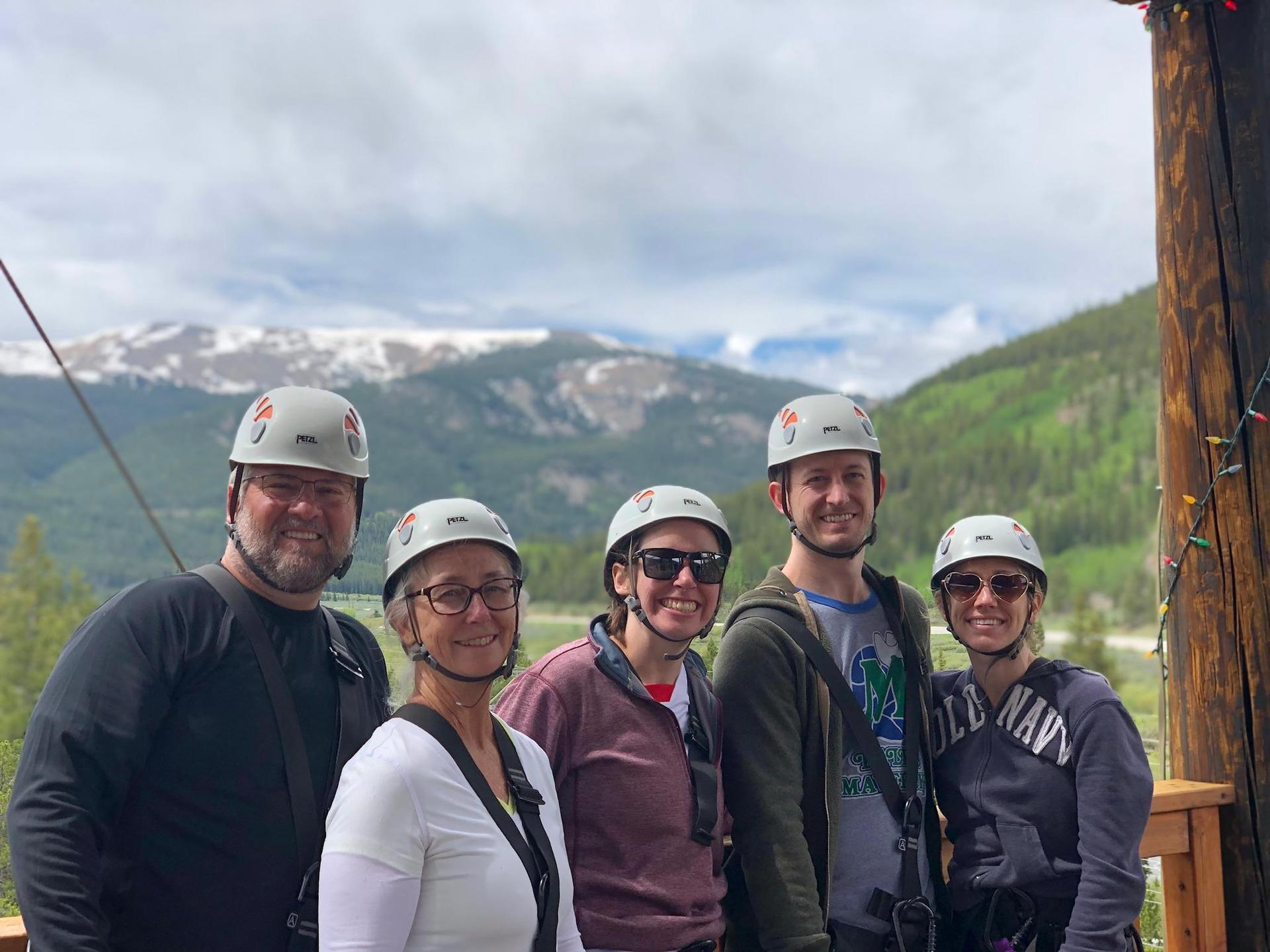 Zip Lining in Colorado with my family