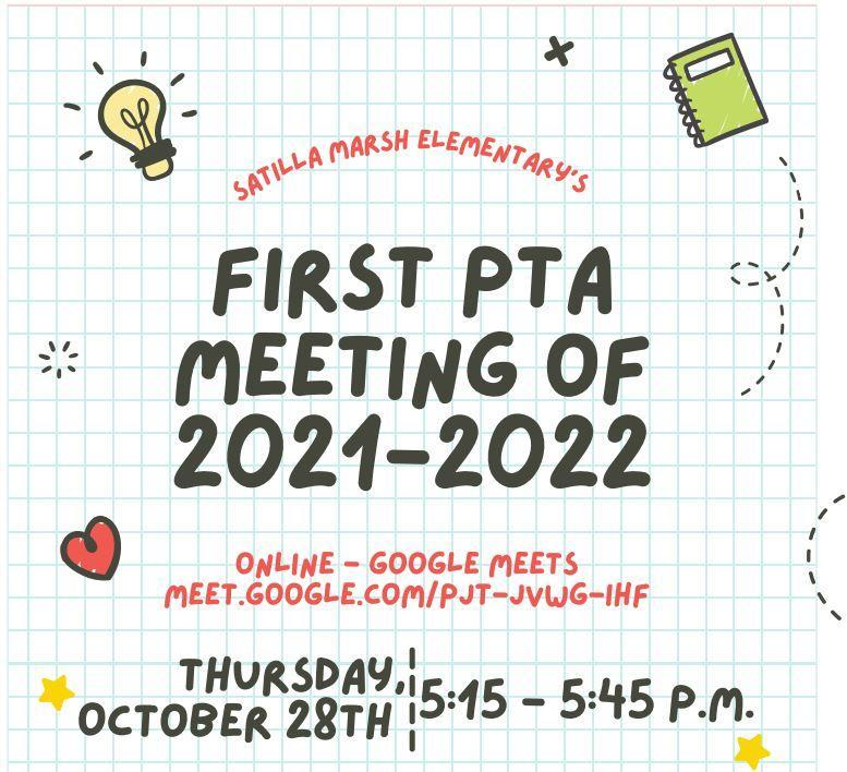 PTA Meeting, Thursday, October 28th Featured Photo