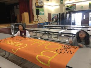 Starting to look like Halloween when student council begins working on 'Boo-Gram' signs! #proud2bepusd