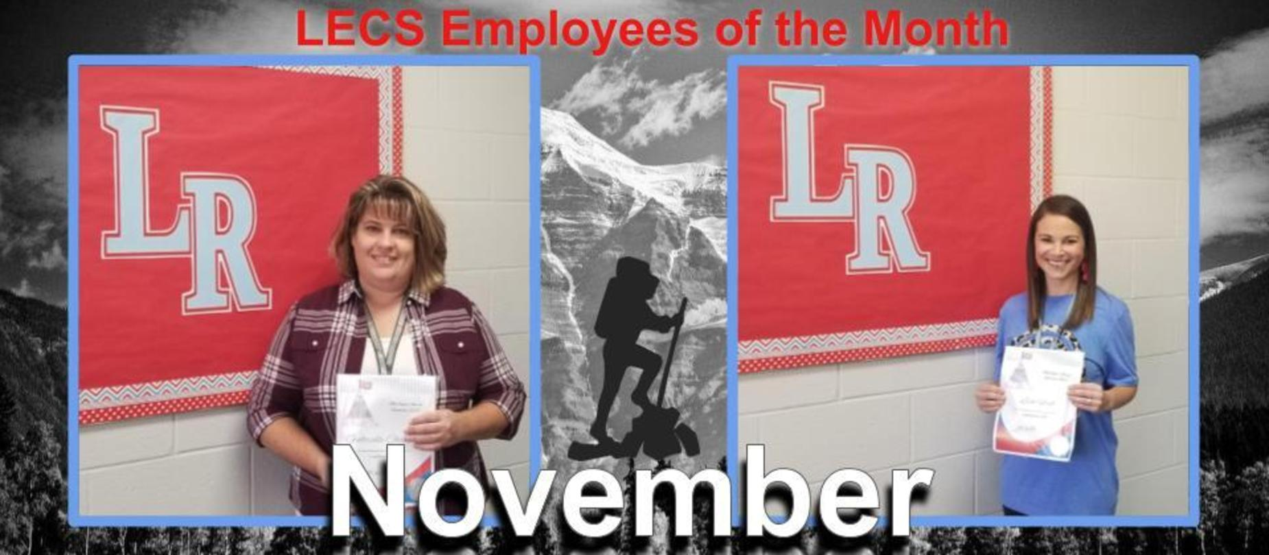 Gabrielle Chandler and Lisa Ford - November Employees of the Month