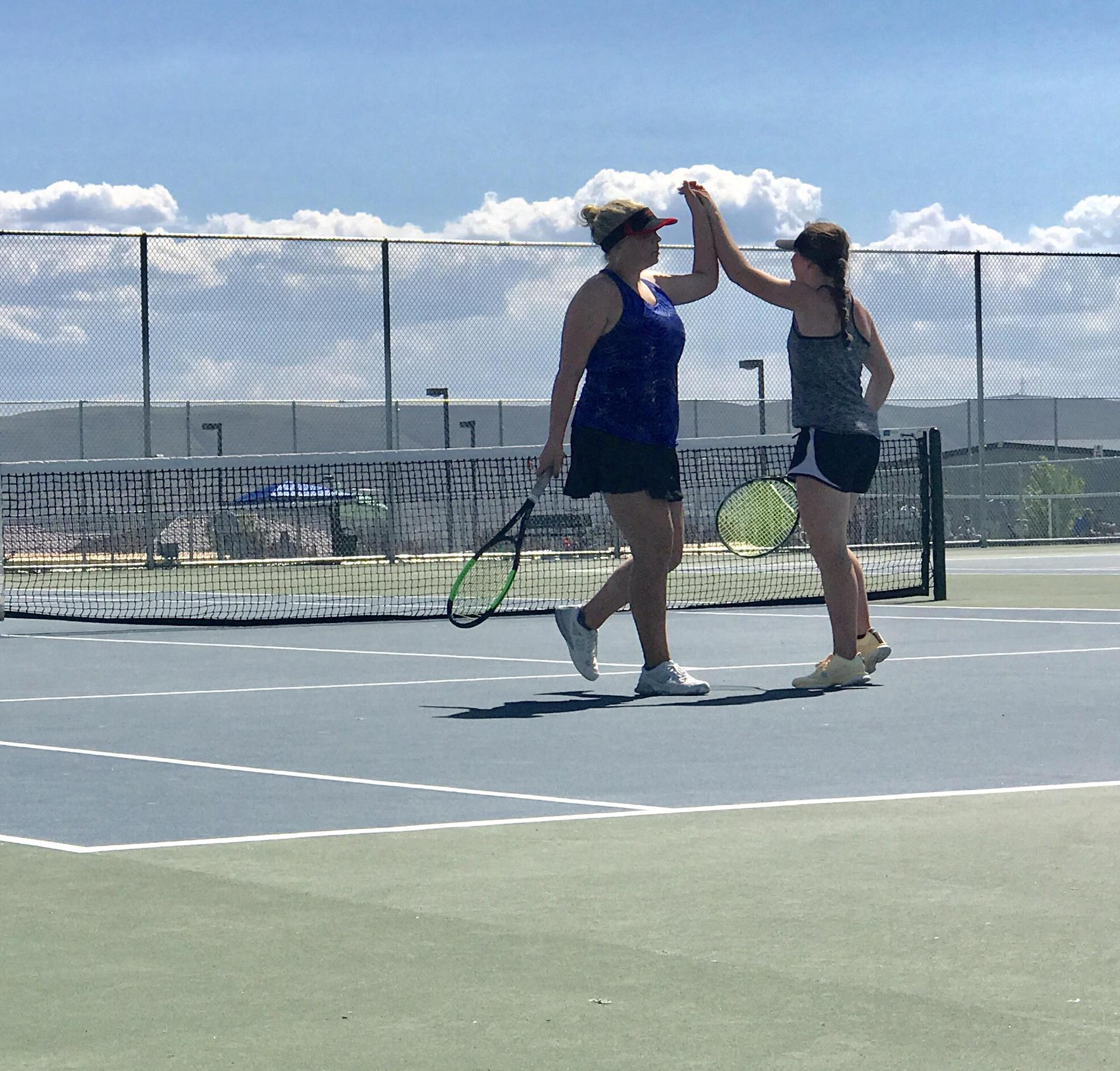 Allison and Kylie - EVHS Girls Tennis Doubles Team
