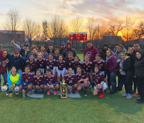 Champions!!! Girls Varsity Soccer Team recently takes 1st Place in the 2018 Marine Leadership Academy Tournament