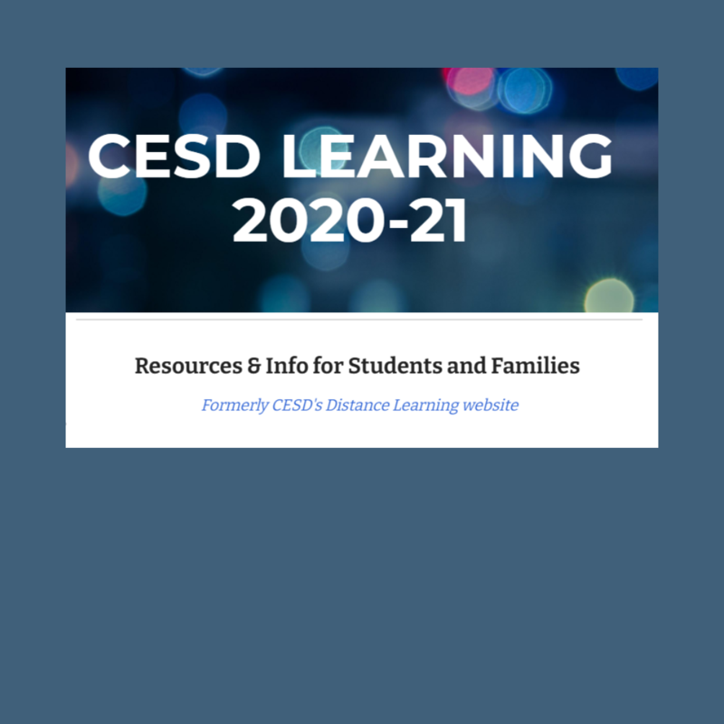 CESD Learning Resources 2020-21