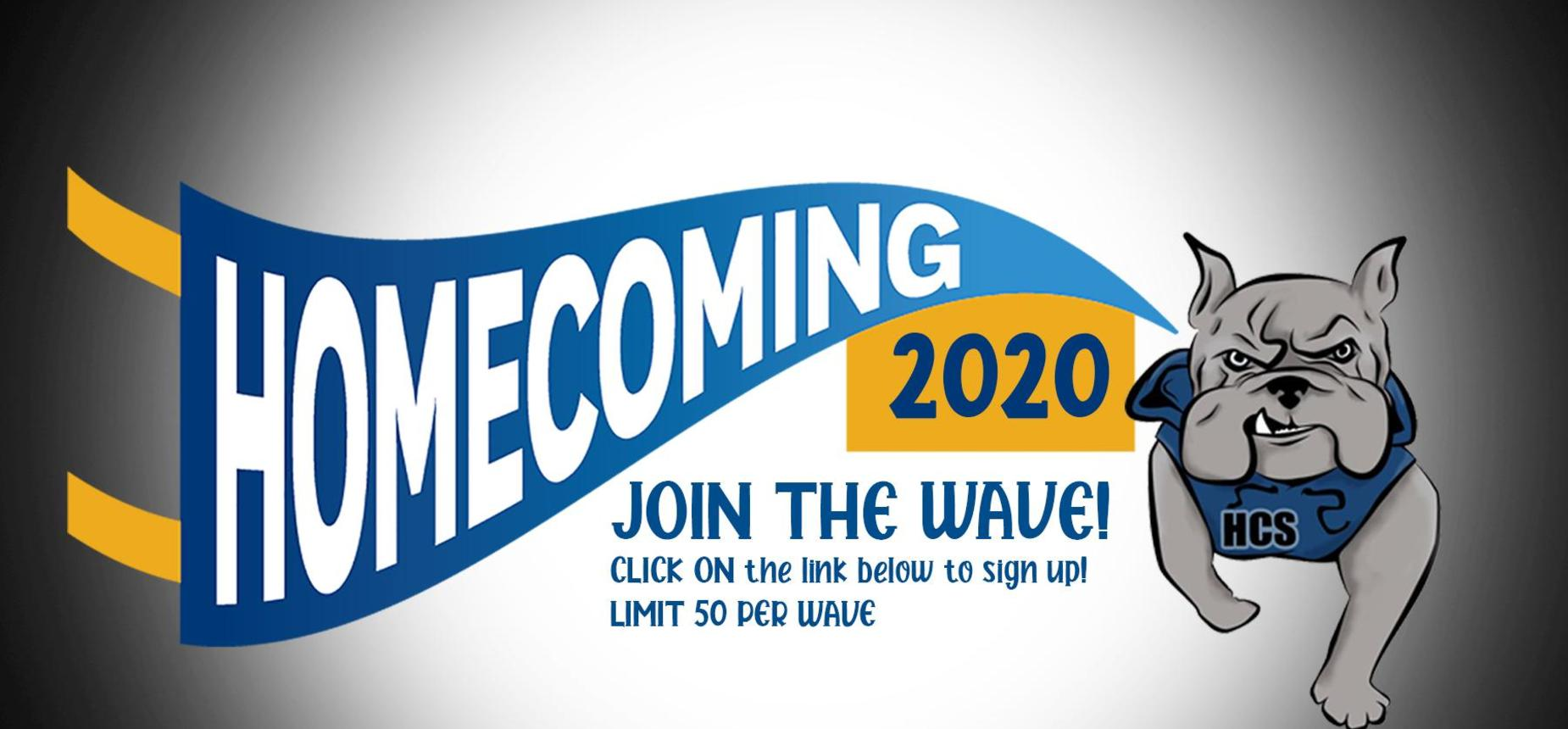 Sign up for the Homecoming Wave at BulldogBeat Online