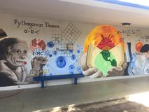 Science Mural next room 12 and 13