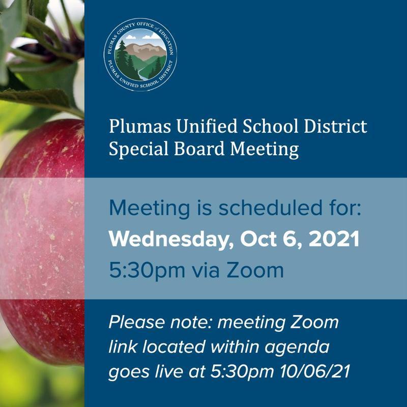 PUSD Special Board Meeting 10/6/21