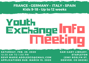 Youth Exchange Info Meeting