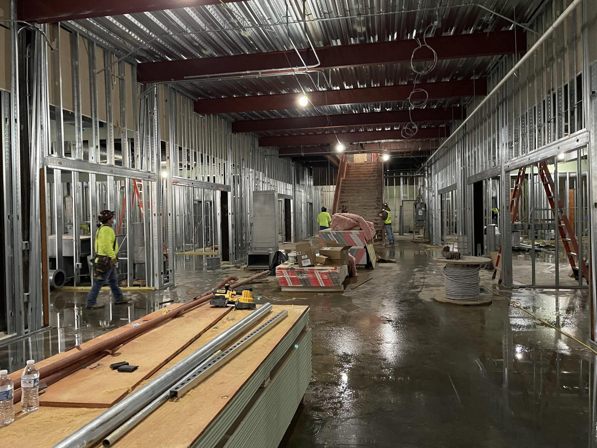 Natatorium infill construction