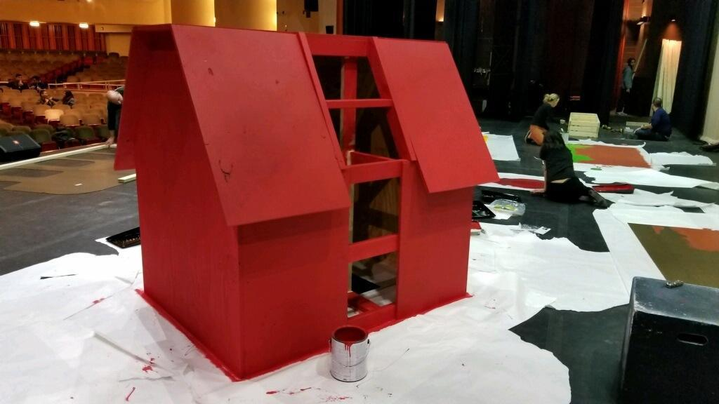 painting snoopy's house red