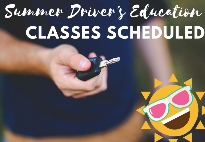 Driver's Education Summer Schedules Thumbnail Image