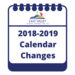 Notepad with 2018-2019 Calendar Changes on it.