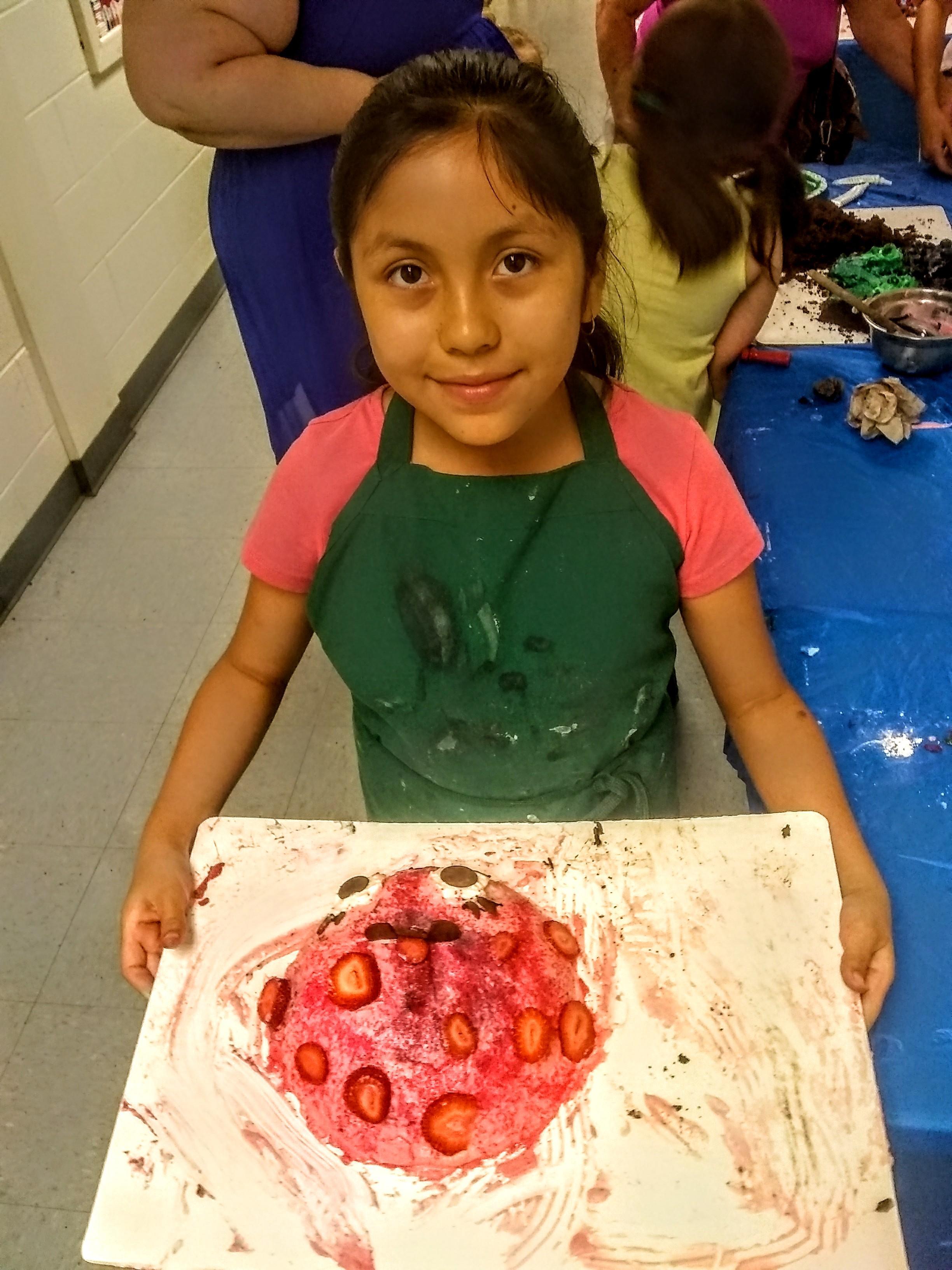 a ladybug shaped cake