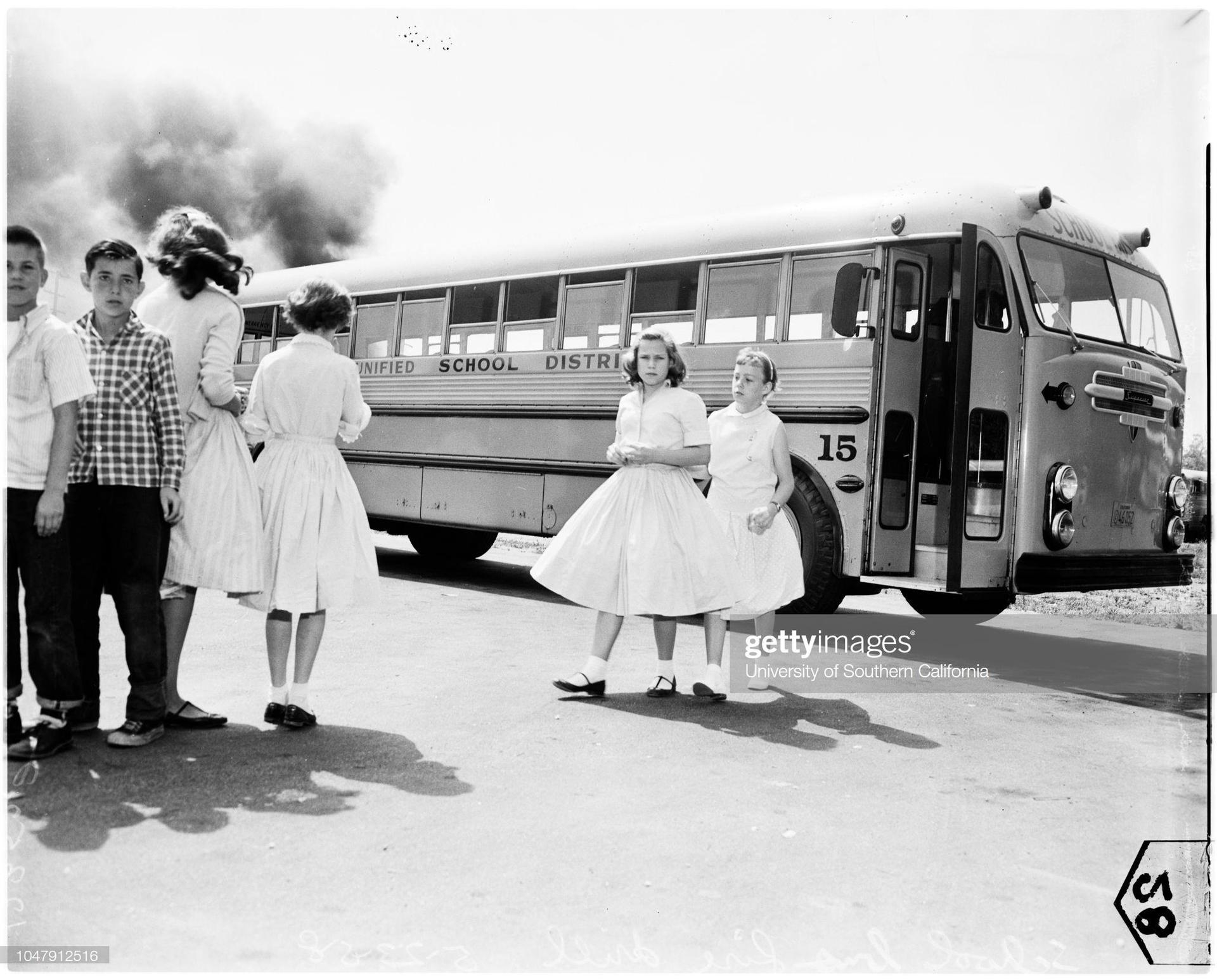 vintage school bus photo
