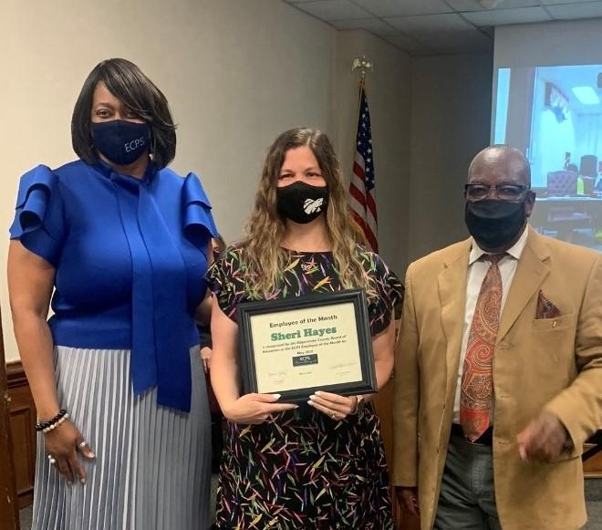 Hayes recognized as ECPS Employee of the Month Featured Photo
