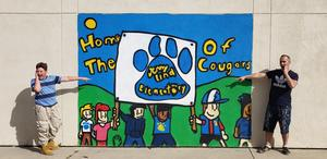 student mural at Jenny Lind Elementary