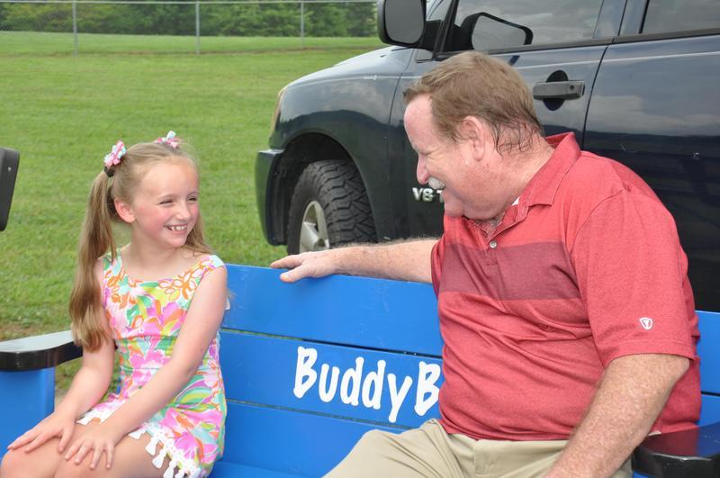 Daisy donates Buddy Benches