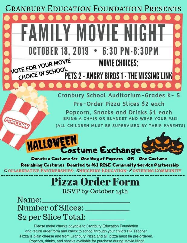 Ticket Information for CEF K-5 Movie Night