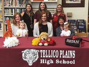 Senior Cheerleader Signs with Bryan College