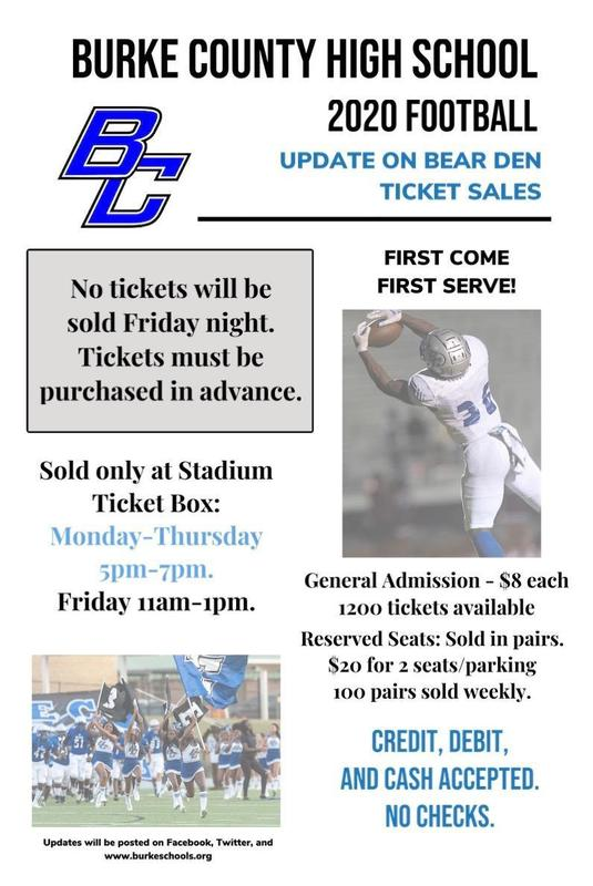 Flier for football game