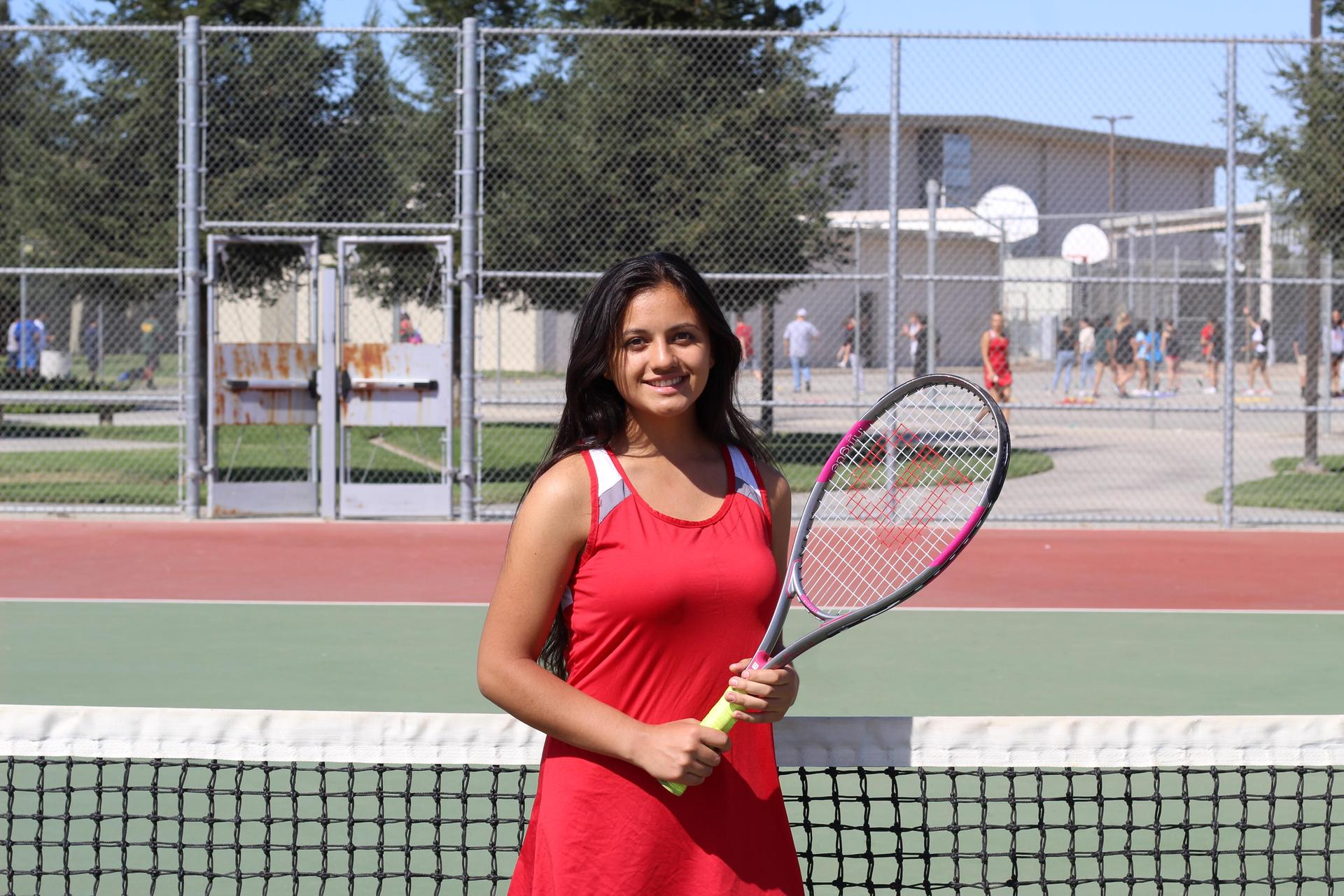 Senior tennis player Maria Mendonca.