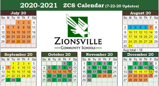 Green/Silver Calendar 2020-2021