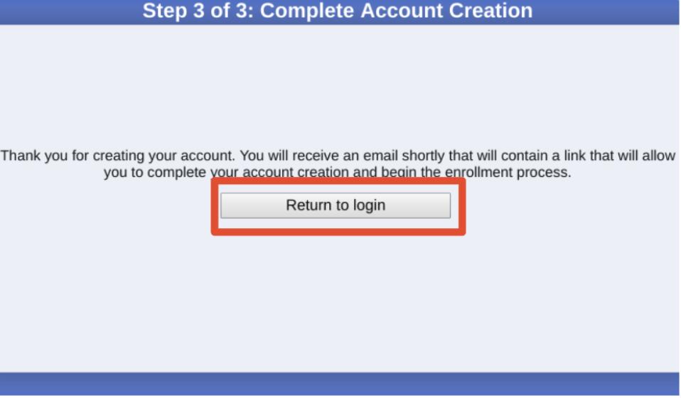 Screenshot - return to login