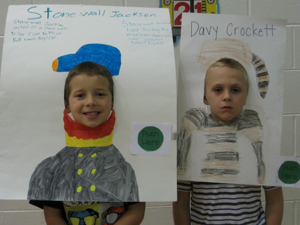 Wax Museum-Stonewall Jackson and Davy Crockett