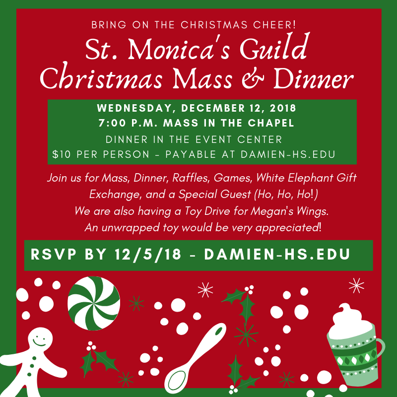 Join us for St. Monica's Guild Christmas Mass & Dinner Featured Photo