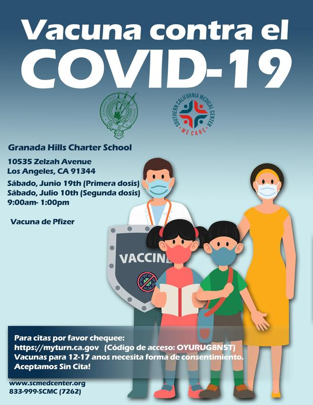Flyer COVID Vaccine-Granada Hills Charter School-Spanish.jpg