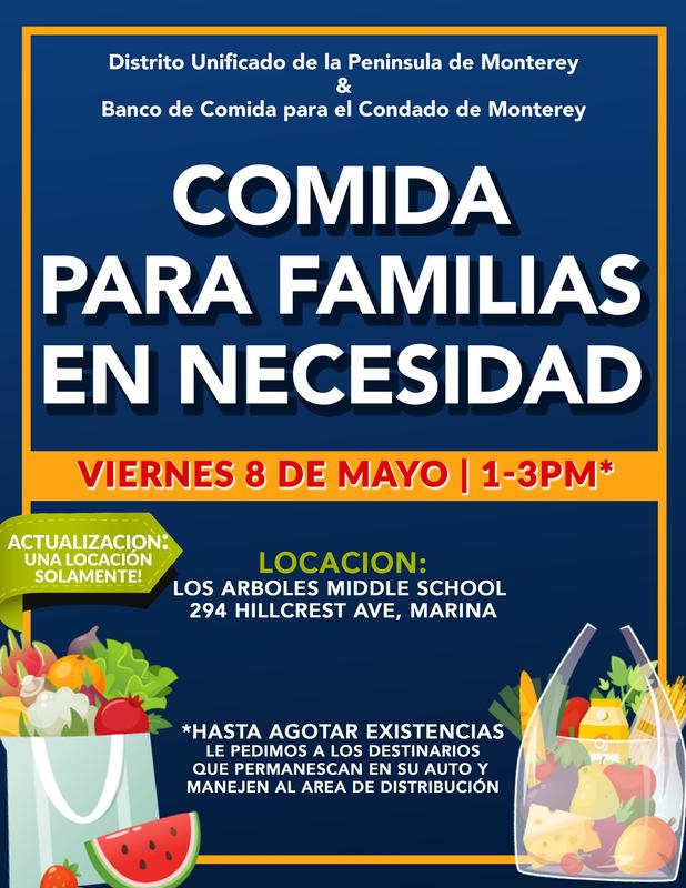 Food for Families in Spanish