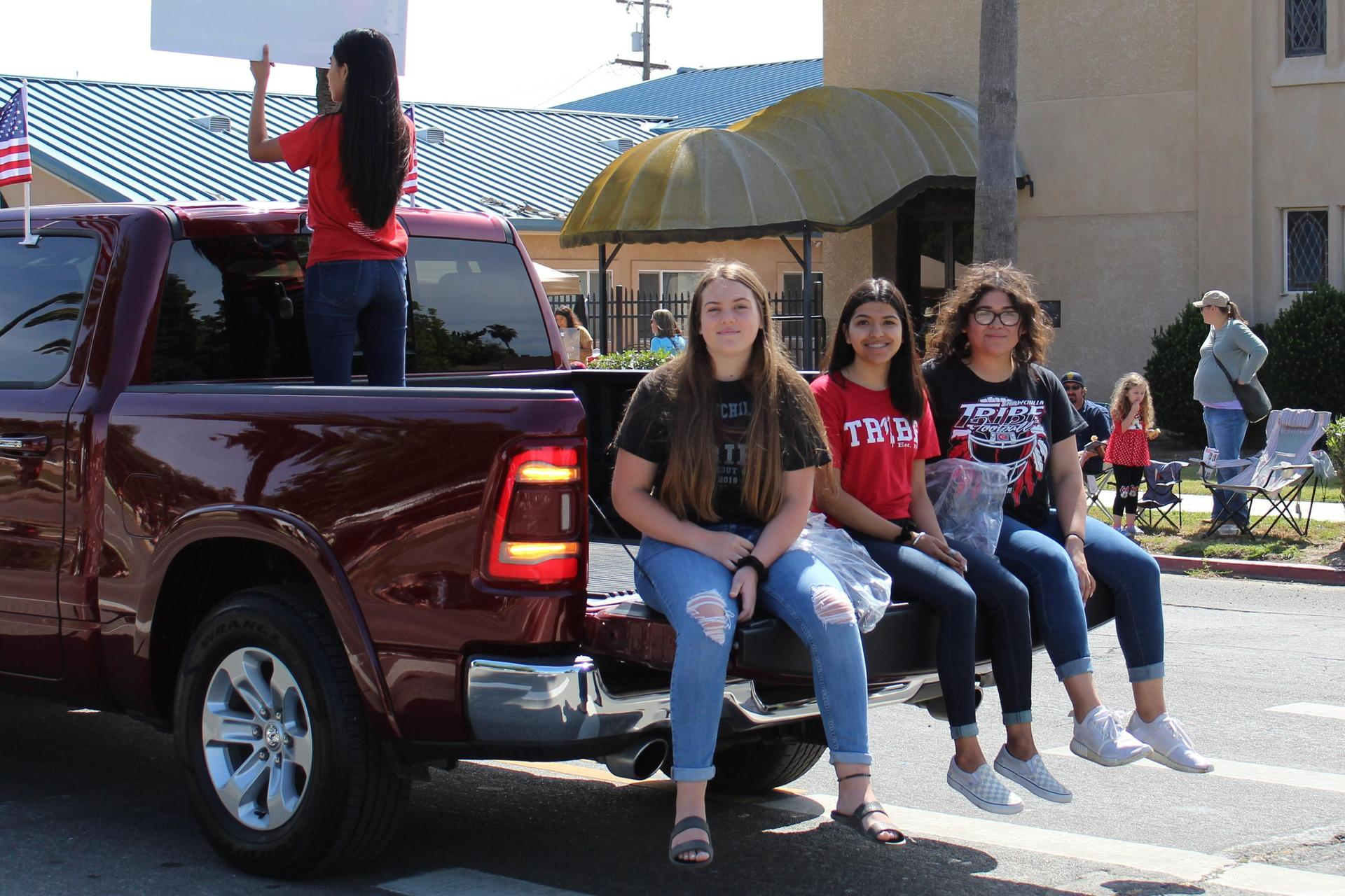 Chowchilla High School students in the parade